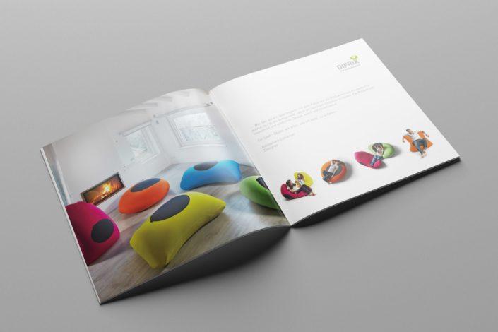 Werbeagentur Berlin DIFRIX Sitzsack - Printmedien