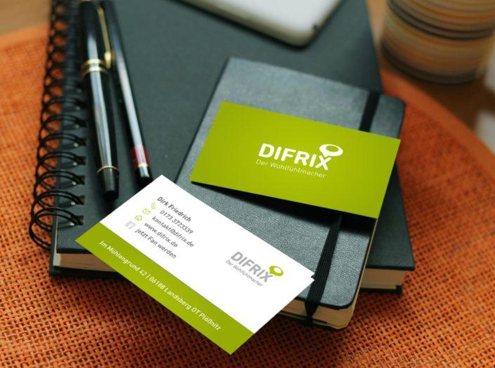 Werbeagentur Berlin DIFRIX-Visitenkarten Design