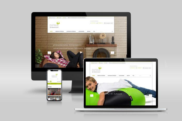 Werbeagentur Berlin DIFRIX Sitzsack - Webdesign