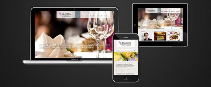 Webdesign Bio Restaurant Mandelbaum