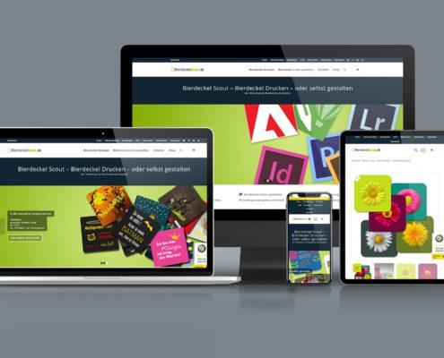 Webdesign Onlineshop BierdecklScout