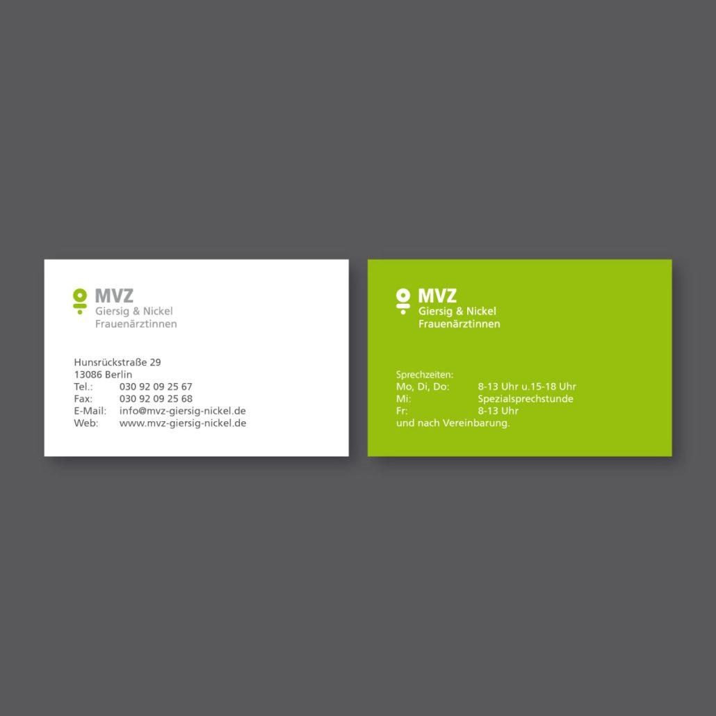 MVZ Giersig Nickel Geschäftspapier
