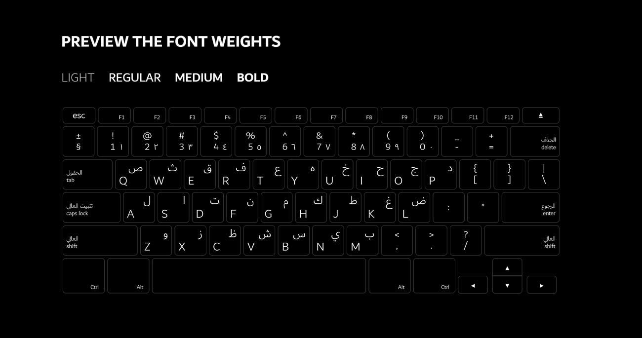 dubai font weights