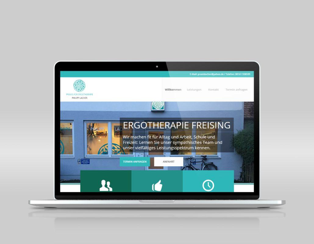 Webdesign Ergotherapie Freising