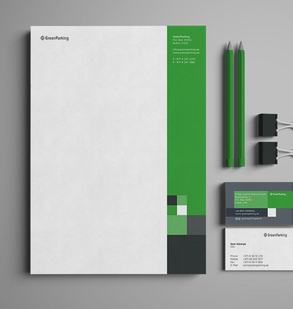 GreenParking Geschäftspapier
